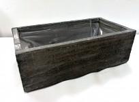 Dřevěný šuplík k zavěšení vintage - šedý 60 cm