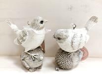Dekorace ptáček mini s drátkem  - mix barev