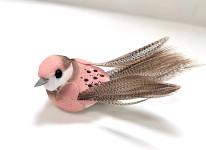Ptáček barevný mini 13 cm - mix