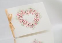 Svatební blahopřání akvarelové - sakura