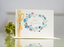 Svatební blahopřání akvarelové - láska hory přenáší
