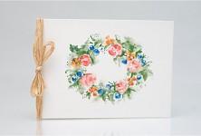 Svatební blahopřání akvarelové - věneček barevný