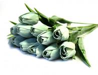Tulipán umělý - bílý lux