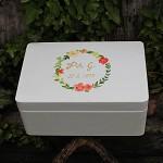 Dřevěná krabička na přání (peníze) - věneček