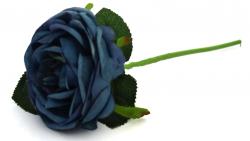 Pivoňková růže - stvol - tm.modrá