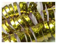 Serpentýny holografické zlaté - 18ks