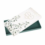 Dárková krabička na peníze (voucher) - eukalyptus - nevěstě a ženichovi
