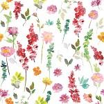 Ubrousky bílé - luční květy