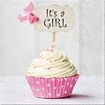 Ubrousky k narození dítěte - Je to holka