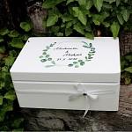 Dřevěná krabička na přání (peníze) - eukalyptus