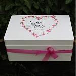 Dřevěná krabička na přání (peníze) - ROMANTIK