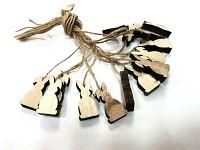 Zajíček dřevěný mini  - na provázku 1ks