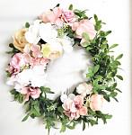 Věnec jarní bílý - pastelové květy