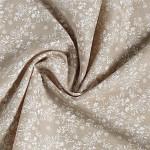 Látková šerpa natural  - bílý květinový vzor - 250 cm