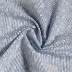 Látková šerpa modrá  - bílý květinový vzor - 250 cm