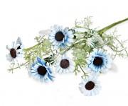 Luční kytice s modrými kvítky - 55 cm