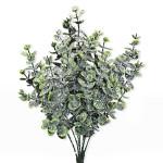 Věnec jarní hnědý - růžovo-zelené přízdoby - 35 cm