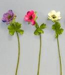 Umělá květina - anemone - růžová