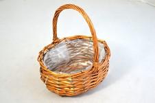 Košík proutěný oválný - hnědý