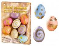 Velikonoční zdobení vajíček - zlaté zdobení
