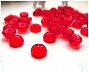 Dekorační kapky rosy - červené