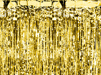 Párty záclona fóliové třásně - zlatá antická matná