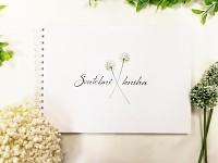 Svatební kniha hostů podélná - allium