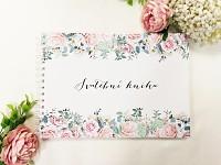Svatební kniha hostů podélná - jarní kytice