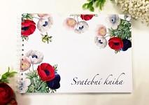 Svatební kniha hostů podélná - anemone folklor