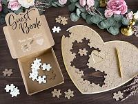 Svatební kniha hostů - puzzle srdce