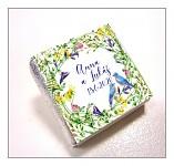 Čokoládka svatební mini - luční květy s ptáčky