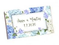 Čokoládka svatební tabulka - hortenzie