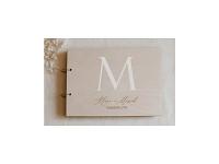 Svatební kniha hostů - dřevěná se jmény - Šíp