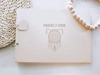 Svatební kniha hostů - dřevěná se jmény - Lapač snů