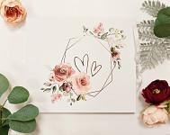 Svatební kniha hostů - dřevěná se jmény - trojúhelník s lístky