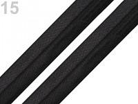 Pruženka lemovací půlená - černá 18 mm - 1m