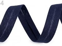 Šikmý proužek bavlněný 18mm/1m - tm.modrý