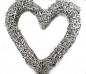 Srdce réva - bílo-šedé - 49cm