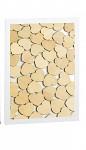Dřevěná kniha hostů - bílý rám vhazovací - 72ks srdíček