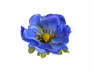 Hlavička anemone 7 cm  - modrá - 1ks