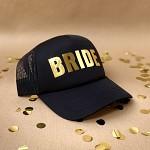 Kšiltovka černá - zlatý nápis Bride