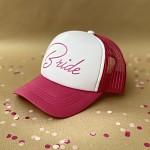 Kšiltovka růžovo-bílá - Nevěsta