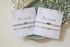 Náramkový set pro nevěstu - s větvičkou - stříbrný