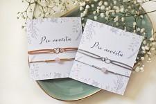 Náramkový set pro nevěstu - se srdíčky - zlatý