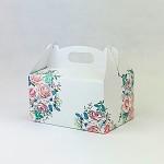 Krabička na výslužku s ouškem malá - jarní kytice