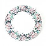 Papírové talíře 23cm  - jarní kytice - 8ks