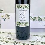 Etiketa na svatební víno 0,7l - s bílými růžemi