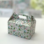 Krabička na výslužku s ouškem malá - mátovo-růžová