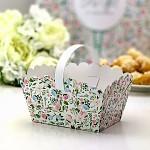 Svatební košíček na koláčky velký - mátovo-růžový