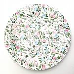 Papírové talíře 23cm  - mátovo-růžové - 8ks